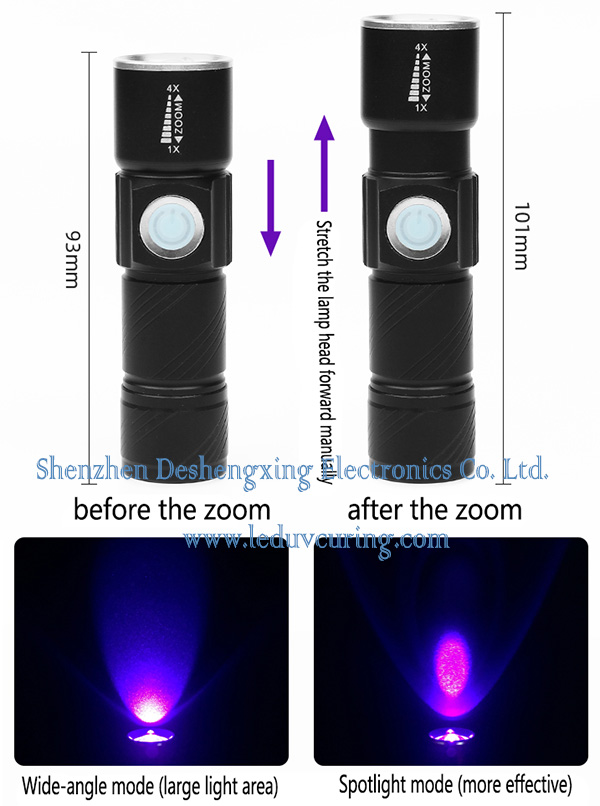 395nm UV LED Curing Flashlight for Detection